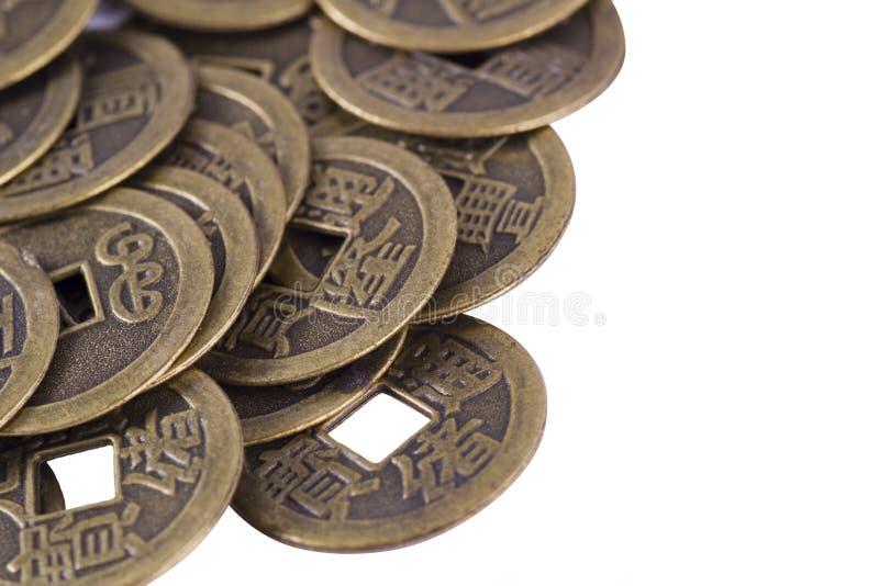 Kina mynt royaltyfria bilder