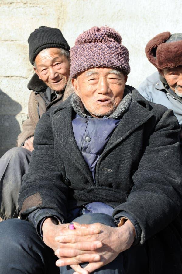 Kina nedde gammalare befolkning 194000000 royaltyfria bilder