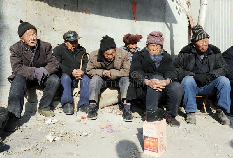 Kina nedde gammalare befolkning 194000000 fotografering för bildbyråer