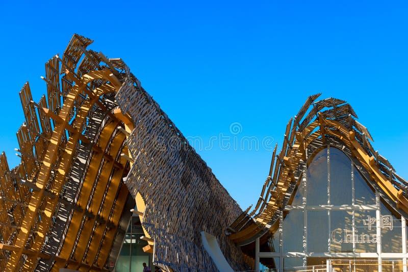 Kina paviljong - expo Milano 2015 royaltyfri bild