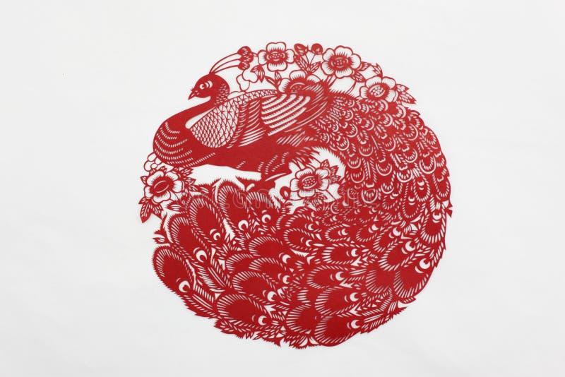 Kina rött pappers- klipp royaltyfri bild