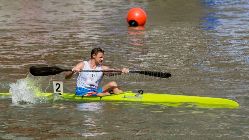 Kina Shanghai Jingan Shaoxing kanota maratonvärldscup 2017 arkivbild