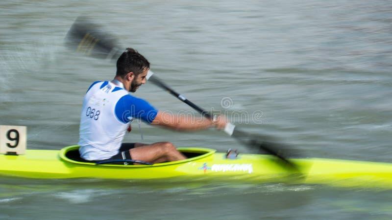 Kina Shanghai Jingan Shaoxing kanota maratonvärldscup 2017 fotografering för bildbyråer