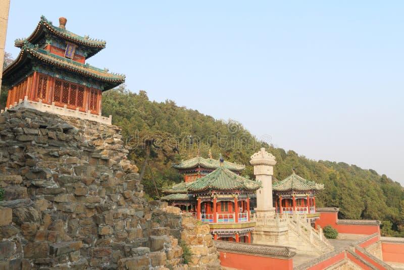 Kina: Sommarslott royaltyfria bilder