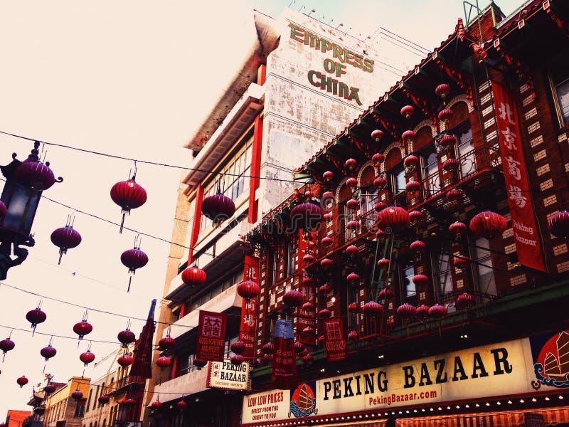 Kina stad royaltyfria bilder