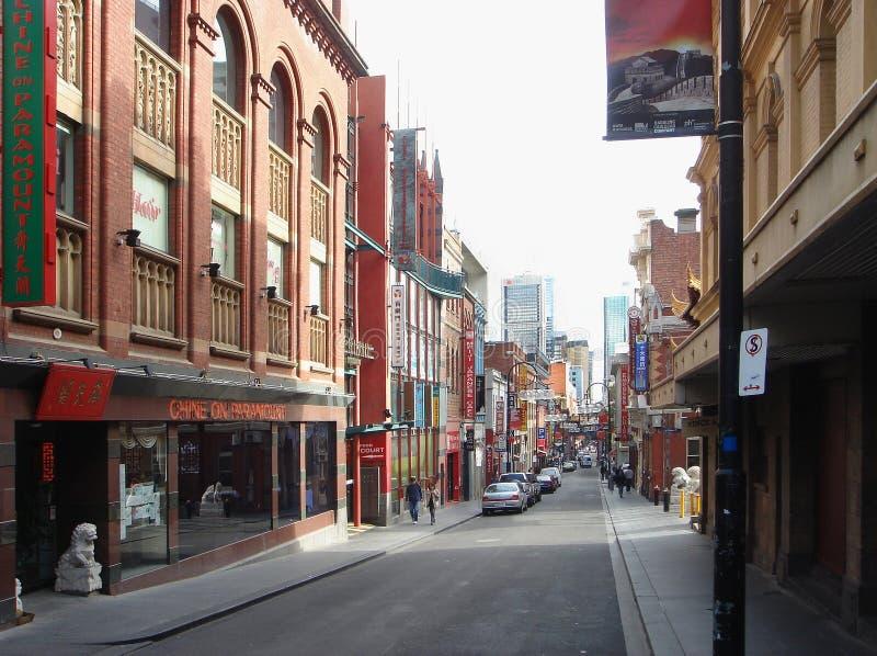 Kina stad i den Melbourne staden arkivbilder
