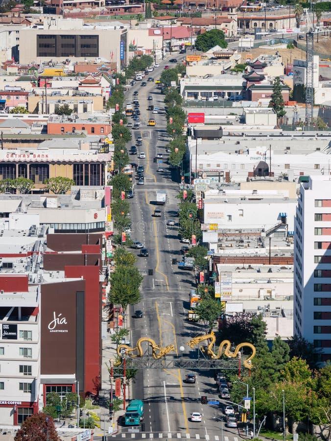Kina stad på Los Angeles royaltyfri foto