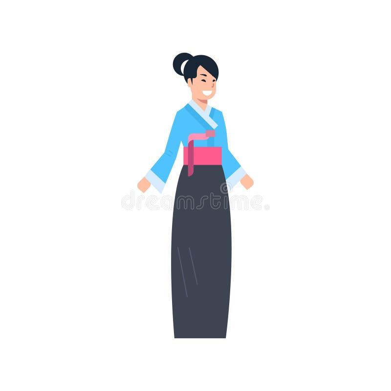 Kina traditionell kläderGeish kvinna som bär forntida dräkt isolerat asiatiskt klänningbegrepp vektor illustrationer