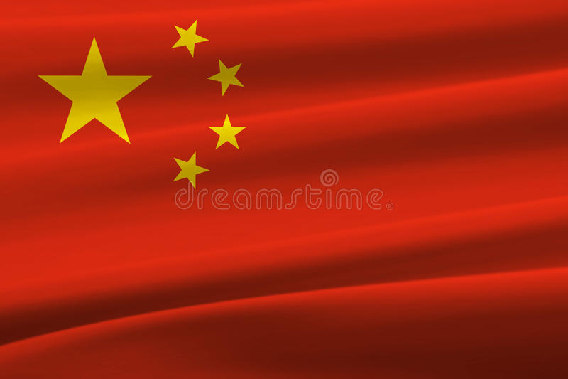 Kina vinkande flagga arkivfoto