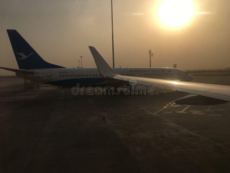KINA Xiamen Airlines royaltyfria bilder