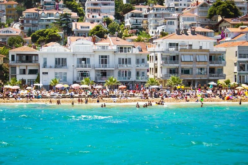 kinali острова пляжа стоковое фото rf