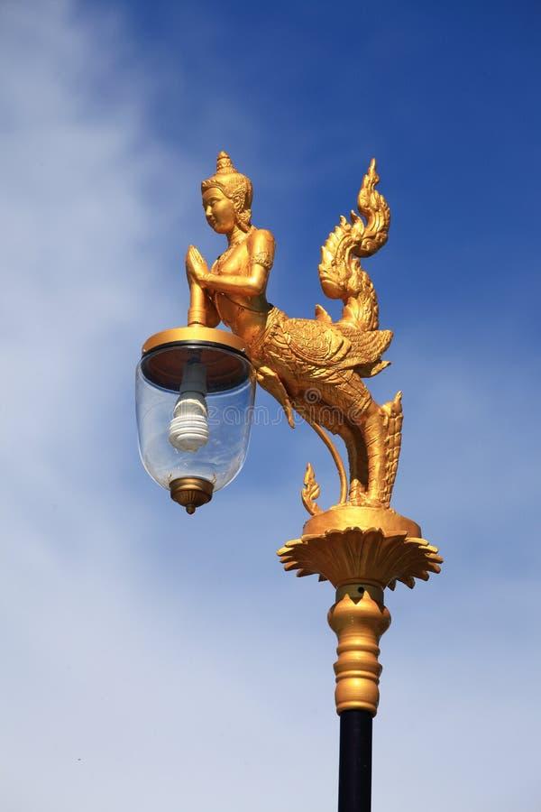 Kinaree è l'animale nel mito tailandese Iluminazione pubblica nella maggior parte del importa fotografia stock libera da diritti
