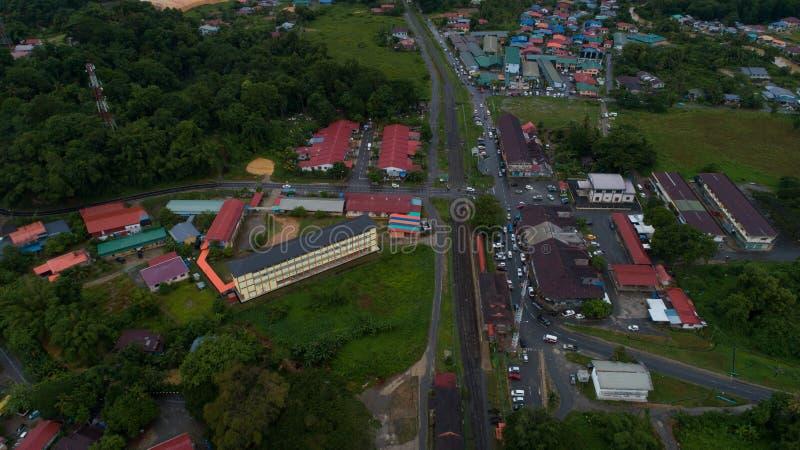 Kinarut-Stadt, Papar, Sabah lizenzfreies stockfoto