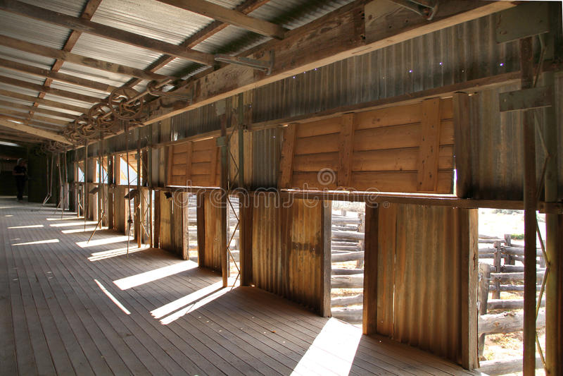 Kinchega Wollehalle. stockbilder