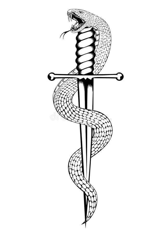 kindżału wąż royalty ilustracja