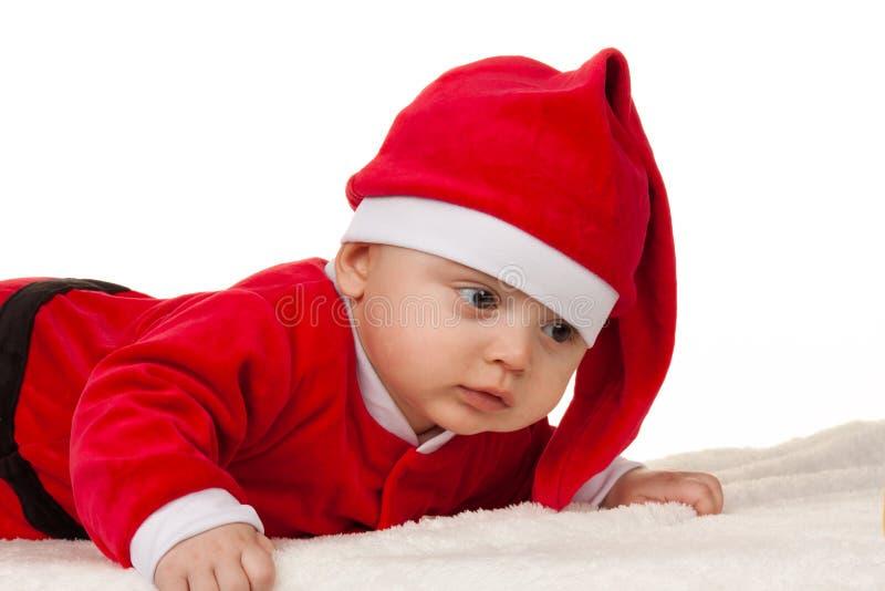 kind als Kerstman royalty-vrije stock afbeelding