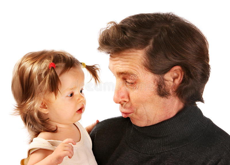 Download Kind Auf Händen Am Großvater. Stockbild - Bild: 21437597