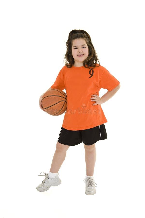Kind-Basketball lizenzfreie stockbilder