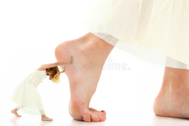 Kind-Beweggrund-Stoß stockbilder
