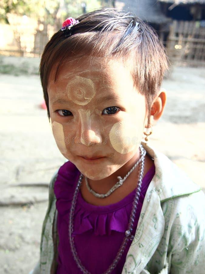 Kind Birma stockfotografie