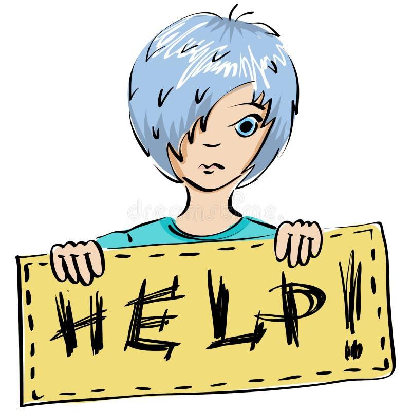 Kind Bittet Um Hilfe Lizenzfreie Stockbilder