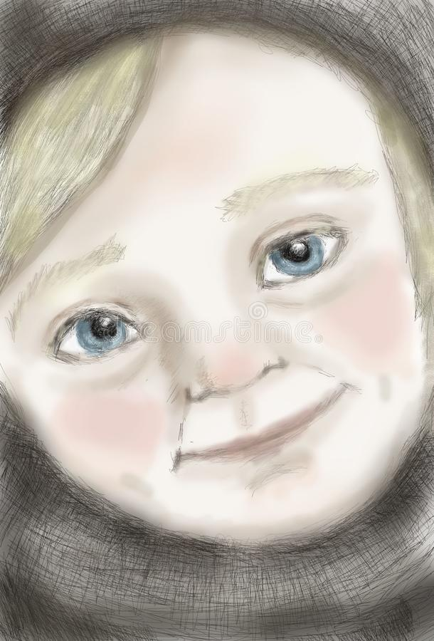 Kind Blauäugiger Junge stockfotos