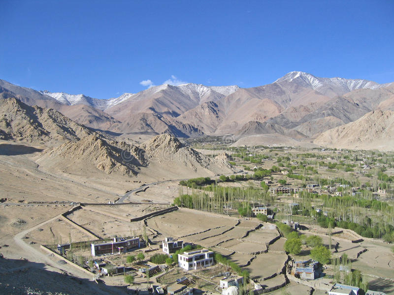 Download Kind On Capital Leh And Mountains Surrounding It. Stock Image - Image: 16248691