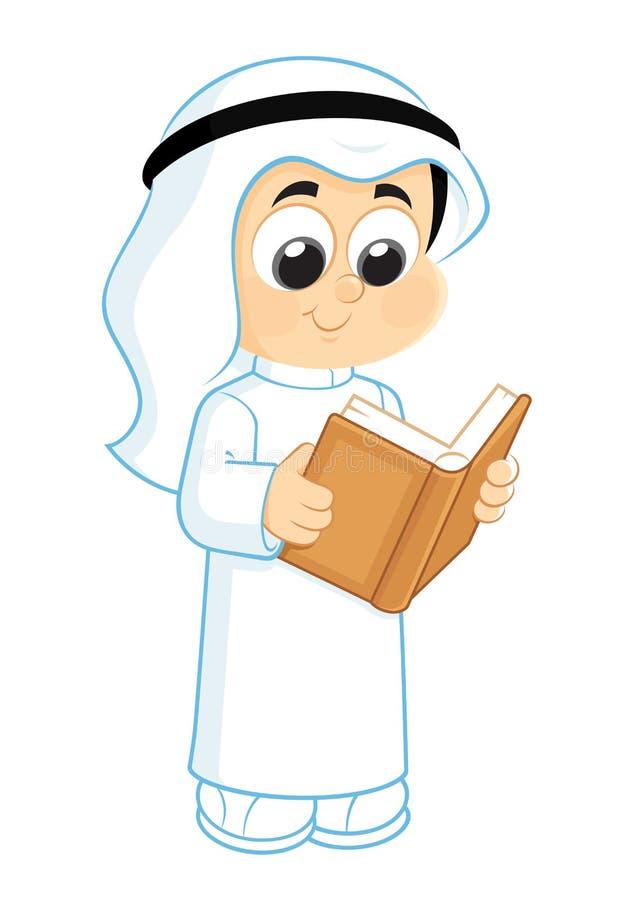 Kind, das ein Buch liest lizenzfreie abbildung