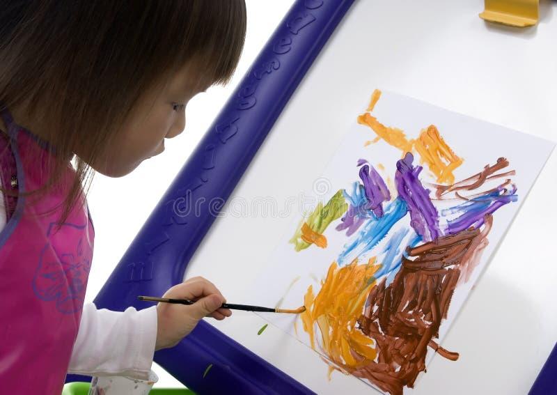 Kind dat 5 schildert royalty-vrije stock foto's