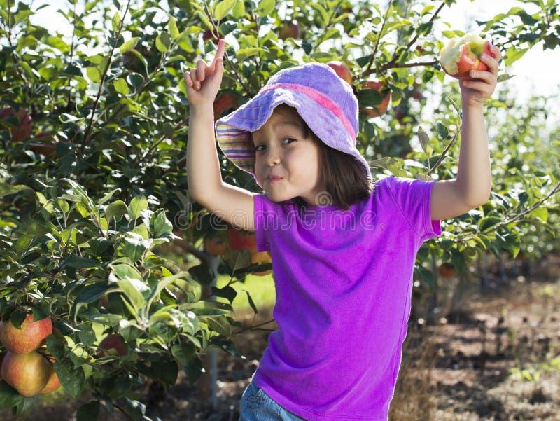 Kind dat Appel eet royalty-vrije stock fotografie