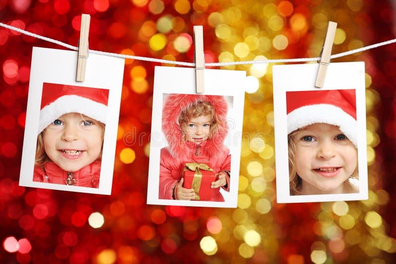 Kind in de hoed van de Kerstman royalty-vrije stock fotografie
