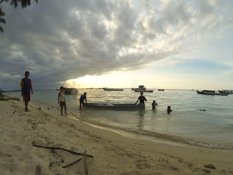 Kind-Derawan-Inseln lizenzfreies stockfoto