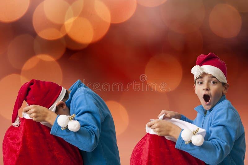 Kind die de Kerstman dragen royalty-vrije stock foto's