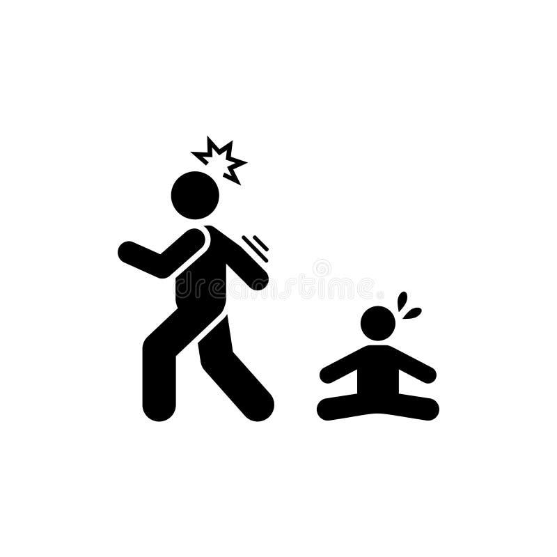 Kind, die negeert, verlaat pictogram het schreeuwen Element van ouderpictogram Grafisch het ontwerppictogram van de premiekwalite vector illustratie