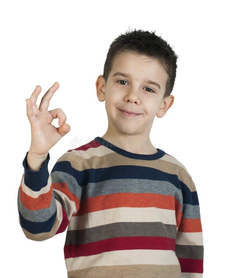 Kind die successymbool tonen royalty-vrije stock foto's