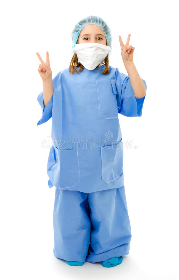 Kind in eenvormige arts royalty-vrije stock foto
