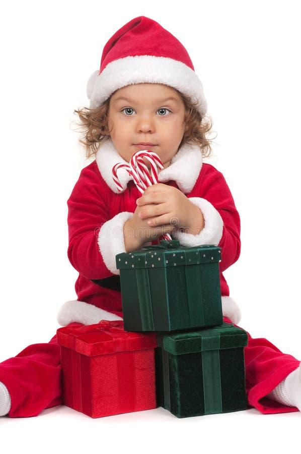 Kind en Chritstmas stock fotografie