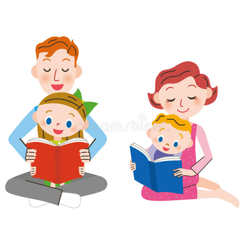 Kind en de brief dat lezen vector illustratie