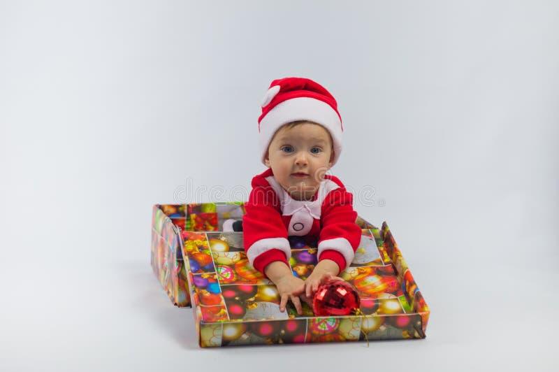 Kind en gift stock afbeelding
