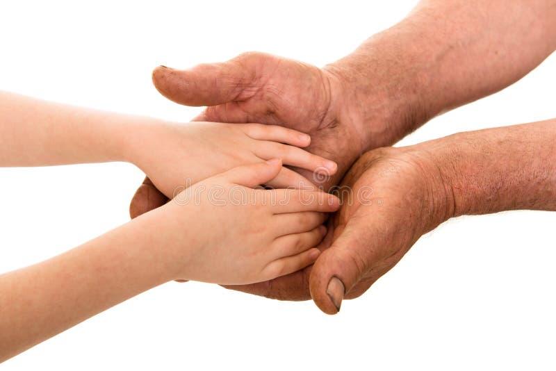 Download Kind en oude mensenhanden stock foto. Afbeelding bestaande uit menselijk - 54088680