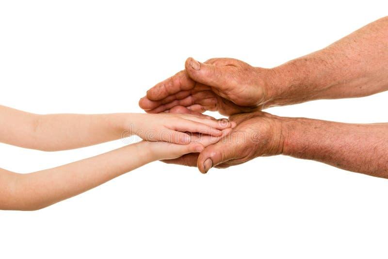 Download Kind en oude mensenhanden stock foto. Afbeelding bestaande uit achtergrond - 54088682