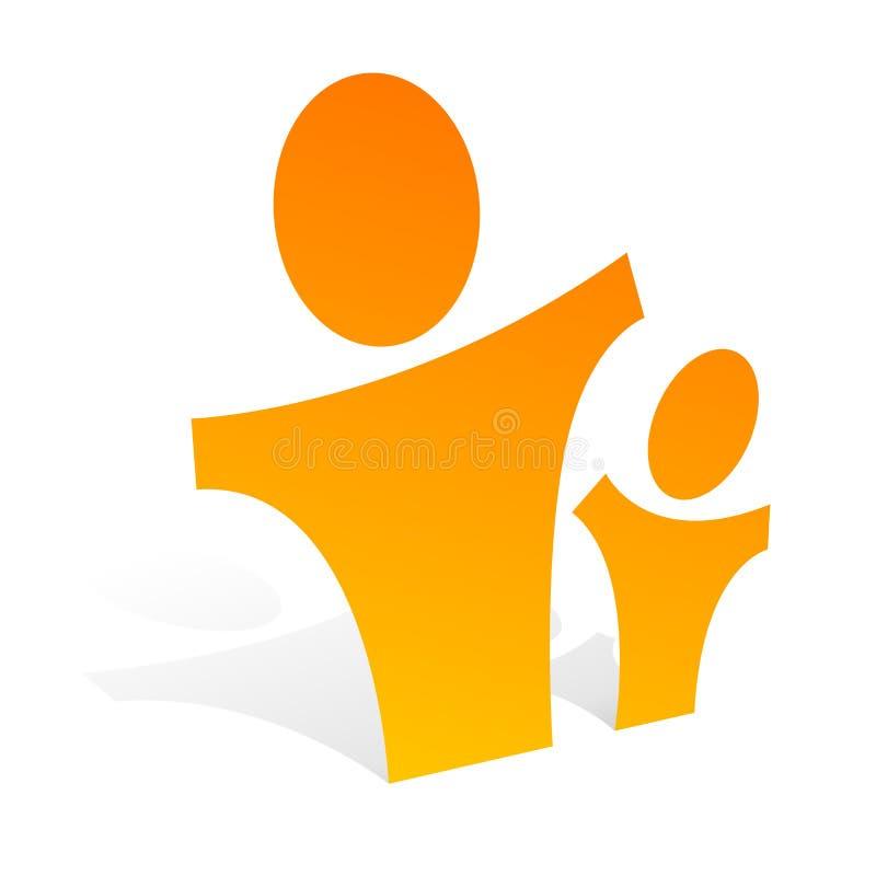 Kind en volwassene 2 3d2 royalty-vrije illustratie