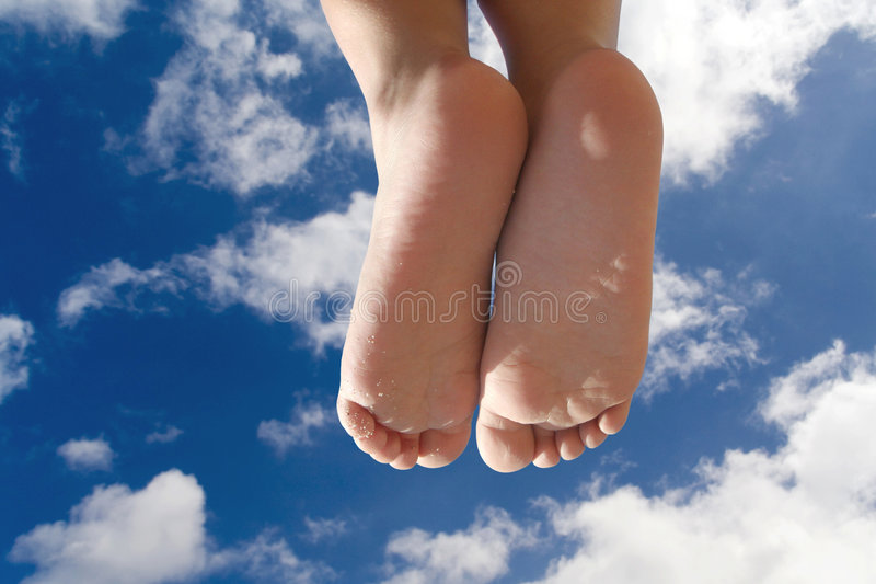 Kind-Füße stockfotografie