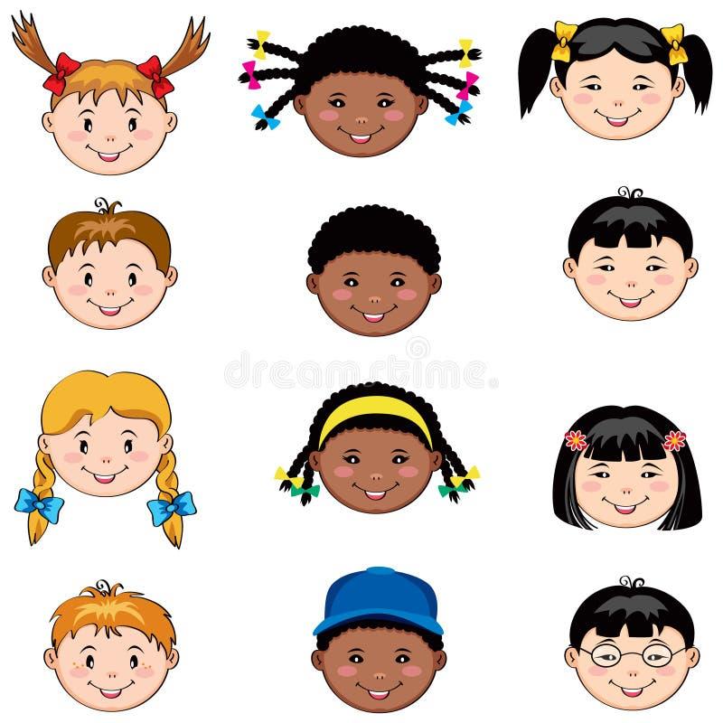 Kind-Gesichter vektor abbildung