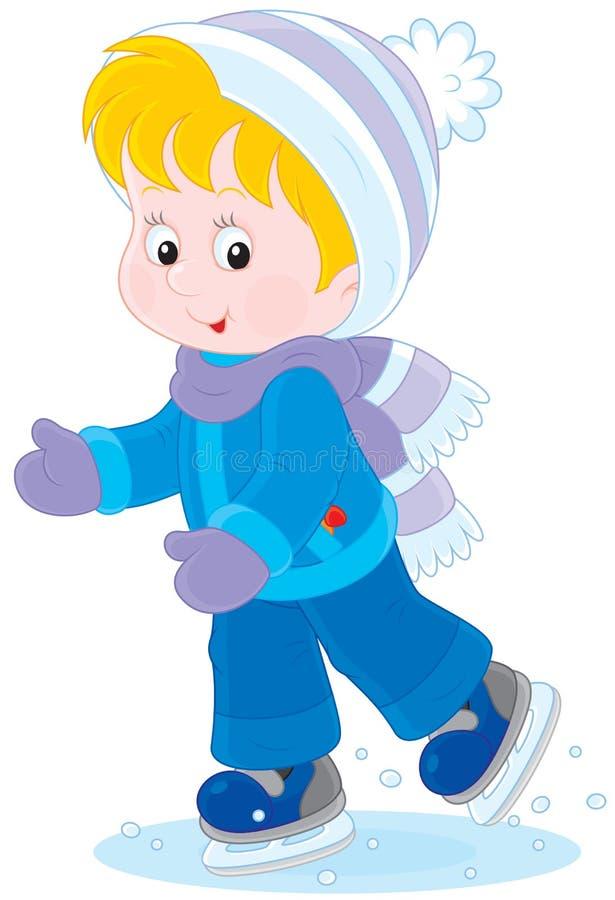 Kind het schaatsen vector illustratie