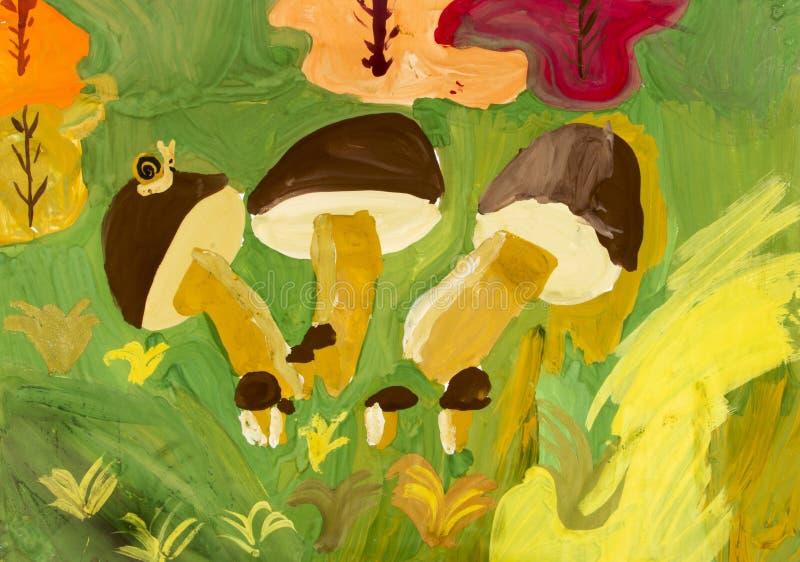 Kind het schilderen stock illustratie