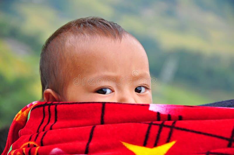 Kind Hmong in Sapa, Vietnam stock afbeelding