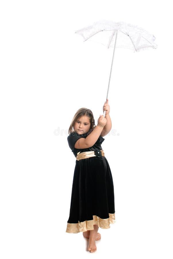 Kind-Holding-Regenschirm lizenzfreie stockfotos
