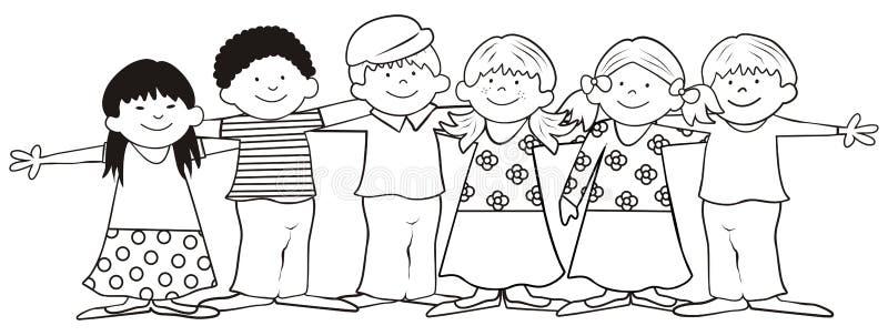 Kind-kleuring boek royalty-vrije illustratie