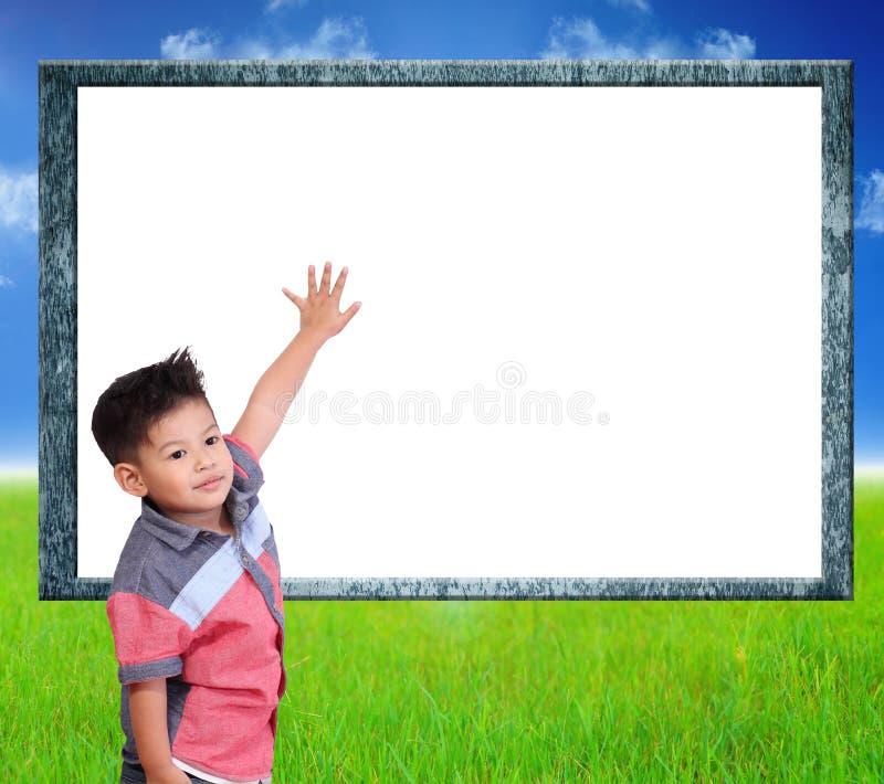 Kind lernen Index auf weißem Hintergrund lizenzfreie stockfotos